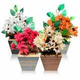 montagem vaso de flores